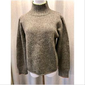 Sundance gray mock turtleneck sweater, size large
